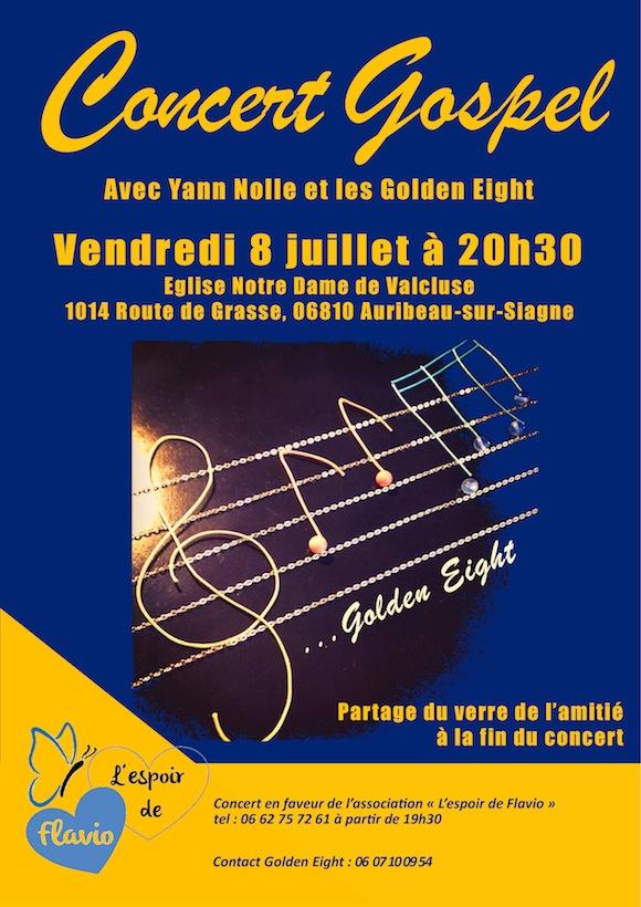 concert 8 juillet 2016 golden eight Valcluse