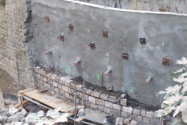 mur de l'entrée